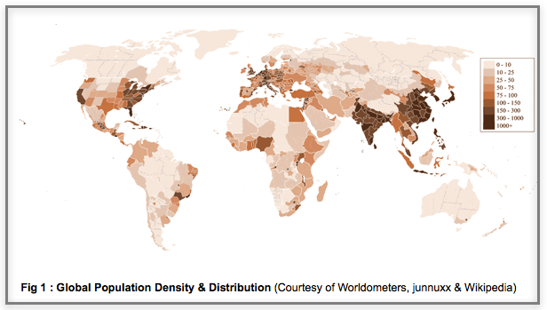 Global Population Density & Distribution